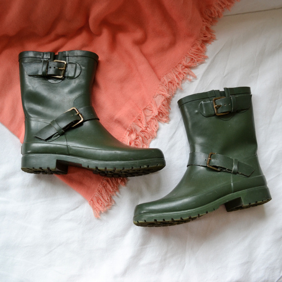 Sperry Shoes - Sperry Green Lined Rainboots